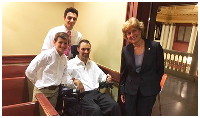 Frank Mongiello and Senator Judy Schwank
