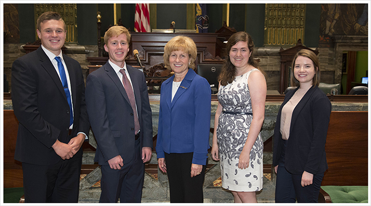 2017 Summer Interns with Senator Schwank
