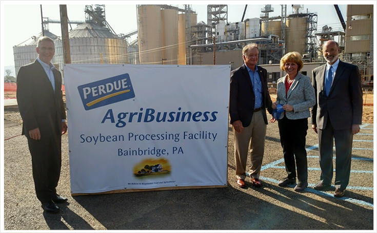 Senator Schwank recently attended the ribbon cutting for Perdue Agribusiness' new soybean processing plant.