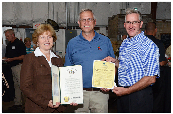 Senator Judy Schwank, Secretary of Agriculture Redding and President/CEO Steve Cygan