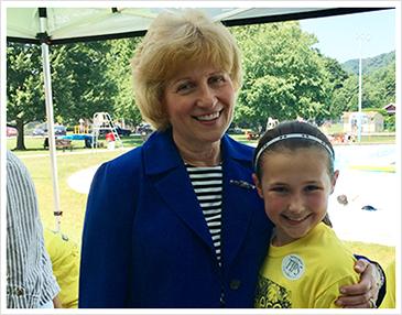Senator Judy Schwank with student