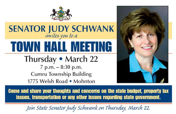 State Senator Judy Schwank March 21 2012