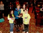 Fifth grader Devynne Valentin, Sen. Judy Schwank, reading specialist Dr. Argyro Elliker and fifth grader Broderic Shipe