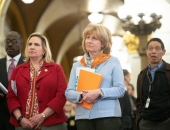 March 19, 2019: Senator Schwank participates in the Citizens' Rally for Safety over Sunoco held in the Capitol Rotunda.