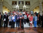 April 8, 2019: Sen. Schwank speaks at Equal Pay Rally to highlight the pay disparities among men and women in the state, largely due to the fact that Pennsylvania has not updated its Equal Pay Act since 1959.