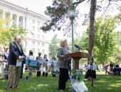 June 14, 2021: Sen. Judy Schwank attends Be the Voice for PA Pup Rally calling for all Pennsylvanians who care for dogs and their wellbeing to support Senate Bill 232 and House Bill 526.