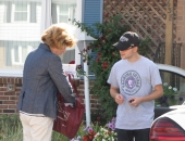 August 12, 2015: Senator Schwank visited constituents at their home in Hyde Park, Muhlenberg Township as part of a 3-day community outreach event.