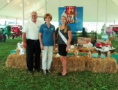August 5, 2013: The Senator is with the Secretary of the Department of Agriculture, George Greig at the Reading Fair.