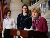 September 25, 2018: Senator Judy Schwank participates in a press conference to raise awareness for his Senate Bill 1219, which aims to close loopholes that allows for child marriage to occur in Pennsylvania.
