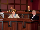 April 11, 2013: Senator participating in the joint Senate and House Agriculture hearing concerning the Federal Food Safety Modernization Act (FSMA) and it's impact on Pennsylvania