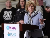 May 7, 2019: Senator Schwank speaks at a rally in honor of  PA Coalition Against Rape and PA Coalition Against Domestic Violence Advocacy Day.