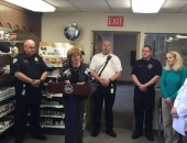 March 4, 2016: Senator Schwank offered remarks at the PA Department of Health's event for the Naloxone Standing Order at Esterbrook Pharmacy in Reading.
