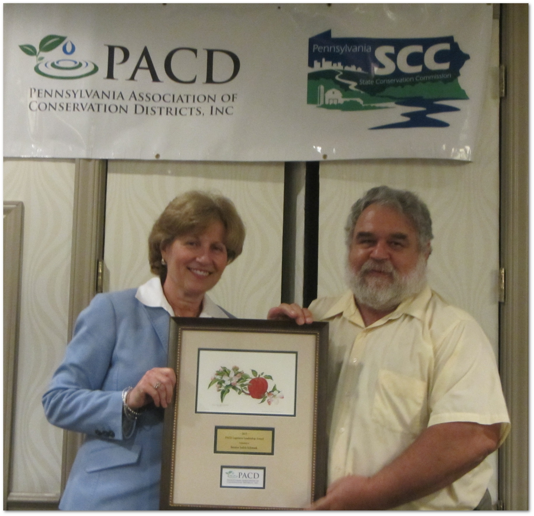 July 8, 2015: Senator Schwank was selected as one of  PA Association of Conservation Districts's (PACD) 2015 Legislator Leadership Award recipient. PACD awards this honor annually to a legislator whose outstanding efforts have helped further the activities and accomplishments of PACD and Pennsylvania's 66 conservation districts.