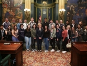March 18, 2019: Sen. Schwank met today in the Senate chamber with students from Antietam Middle Senior High School in Berks County.