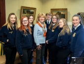 March 19, 2019: Sen. Schwank with FFA students from Kutztown School District.
