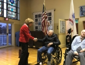 November 9, 2018: I had the honor of presenting certificates to veterans at the Lutheran Home at Topton's Veterans Day Ceremony.