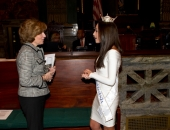 February 13, 2013: Senator Schwank welcomes Miss Pennsylvania to the State Capitol