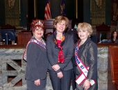 April 15, 2013: Senator Schwank welcomes Ms. Senior PA, Linda Bullock and former Ms. Senior PA 2007 and current pageant director Doris Ulrich.