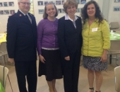 April 25, 2014: Major Colin DeVault, Mindy McCormick, Senator Schwank, and Pat LaMarche at Berks Coalition to End Homelessness Annual Breakfast.
