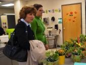 Senator Schwank with instructor Kathleen Salisbury horticulture dept of Berks Career and Technology Center East campus :: November 18, 2011