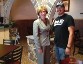 August 12, 2013: The Senator toured and visited businesses in the City of Reading. She provided them with grant information and was able to hear concerns they had. She is with Jose Luis Tinoco Gonzalez, owner of Taqueria El Carreton, an authentic Mexican restaurant  located at 817 Oley Street in Reading.
