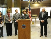 December 2, 2013: Senator Schwank appeared with members of the Reading City Revitalization and Improvement Zone (CRIZ) Authority, U.S. Representative Pitts, and State Representative Rozzi, at a press conference to announce that Reading has submitted its application for CRIZ funding.