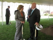 June 16, 2014: Senator Schwank at the groundbreaking of Enesys 4B Project with Enersys Chairman, President, and CEO John D. Craig. The project is expected to be completed in the Summer of 2015 and will bring 115 family-sustaining, new jobs to Berks County. Senator Schwank worked with local and state officials to help ensure that the company was able to move forward with the project in Berks County.