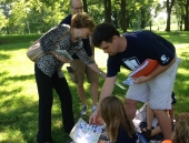 August 6, 2013: The Senator met with students and Matthew Hathaway, Teacher in the Parks Director and 4th grade teacher in the Exeter Township School District.