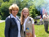 June 7, 2014: For her Silver Award Project for the Girl Scout Fleetwood Troop 11096,  Ripley Price organized a Flag Disposal Ceremony held at the Maidencreek Park Pavilion.