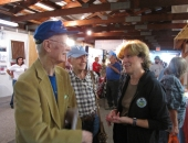 September 19, 2013: Senator Schwank talks to constituents at the Oley Fair.
