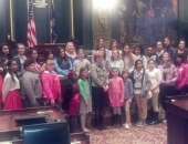 April 8, 2014: Senator Schwank enjoyed hosting the young ladies who participated in the Junior League of Reading, Young Women's Summit.