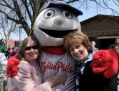 April 19, 2014: Senator Schwank and Reading Councilwoman Donna Reed at Reading Recreation Commission's Ribbon-Cutting at Baer Park.