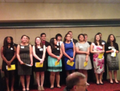 May 8, 2014: Senator Schwank presented Senate certificates to 16 seniors from Reading High School and Reading Muhlenberg Career and Technology Center. Each student was recognized for their outstanding scholastic achievement and being named a recipient of a 2014 Reading High School Alumni Association Scholarship.