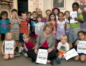 August 22, 2014: In addition to several other child care center tours, Senator Schwank visited the Reading Hospital's Child Development Center.