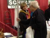 October 29, 2013: Senator Schwank provided pamphlets and information on state programs that her office assists with at the Berks Encore Senior Expo.