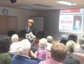 Senator Schwank welcomes constituents.