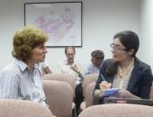 Senator Schwank interviewed by Reading Eagle newspaper reporter Kate Wilcox.