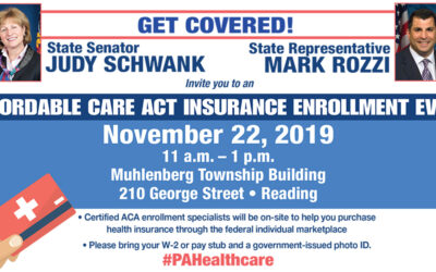 Schwank and Rozzi Hosting Free ACA Event Nov. 22, Pennsylvania Insurance Commissioner to Speak