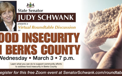 Schwank Hosting Second Lady Fetterman, Secretary Redding in Roundtable Discussion on Food Insecurity in Berks County