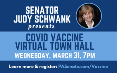 Schwank to Discuss Coronavirus Vaccines with PA Dept of Health Acting Sec. Beam, local health experts at Zoom Town Hall Meeting