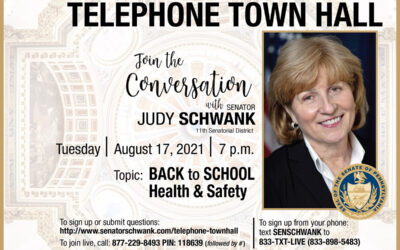 Schwank Hosts Telephone Town Hall on Back-to-School Health and Safety